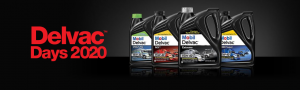 Delvac Days 2020 Sale with Mobil Delvac 15W-40 Products in a Row